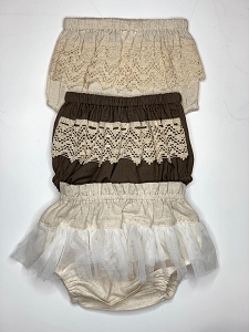Lace and Tulle Bloomer - Earth Tones