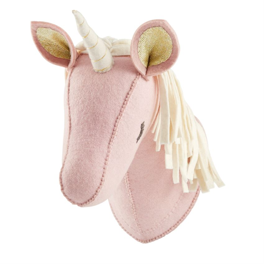 Mud Pie Pink Unicorn Wall Mount