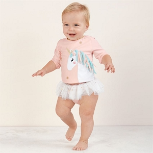 Mud Pie Unicorn Rash Guard 2 piece Swimsuit