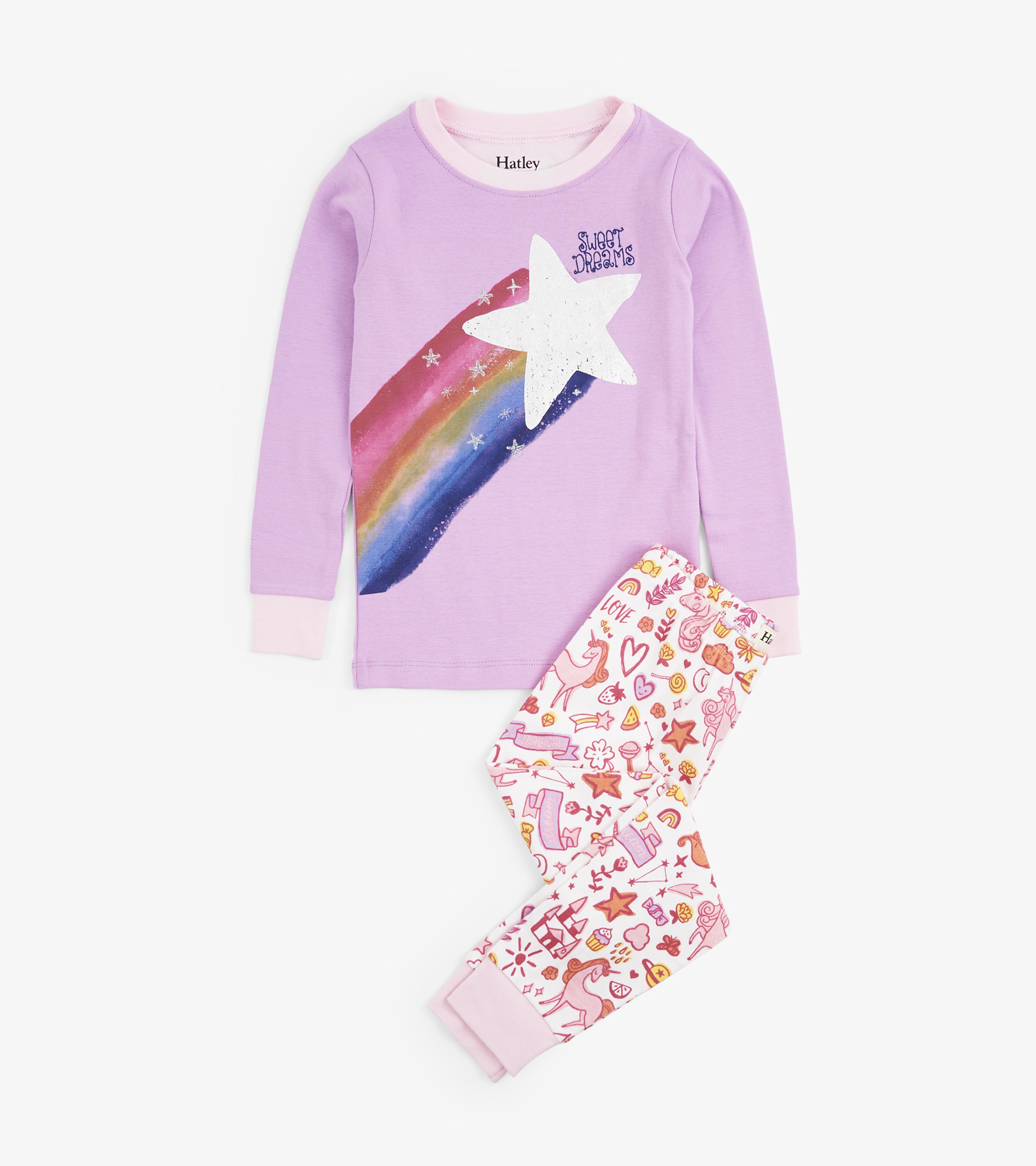 bf36cf8bb43f Home > Clothing & Accessories > Trendy Girl Outfits > Unicorn Doodles  Organic Cotton Pajama Set