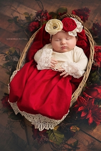Haute Baby Tis the Season Gown Set