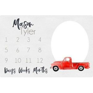 Personalized Memory Blanket - Vintage Truck
