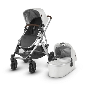 NEW! 2019 UPPAbaby Vista - Bryce (White Marl/Silver/Chestnut Leather)