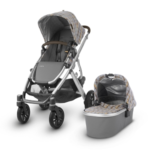 2019 UPPAbaby Vista - Spenser (Grey & Yellow Tartan/Silver/Moss Leather)