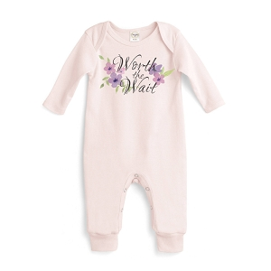 Worth the Wait Pink Romper