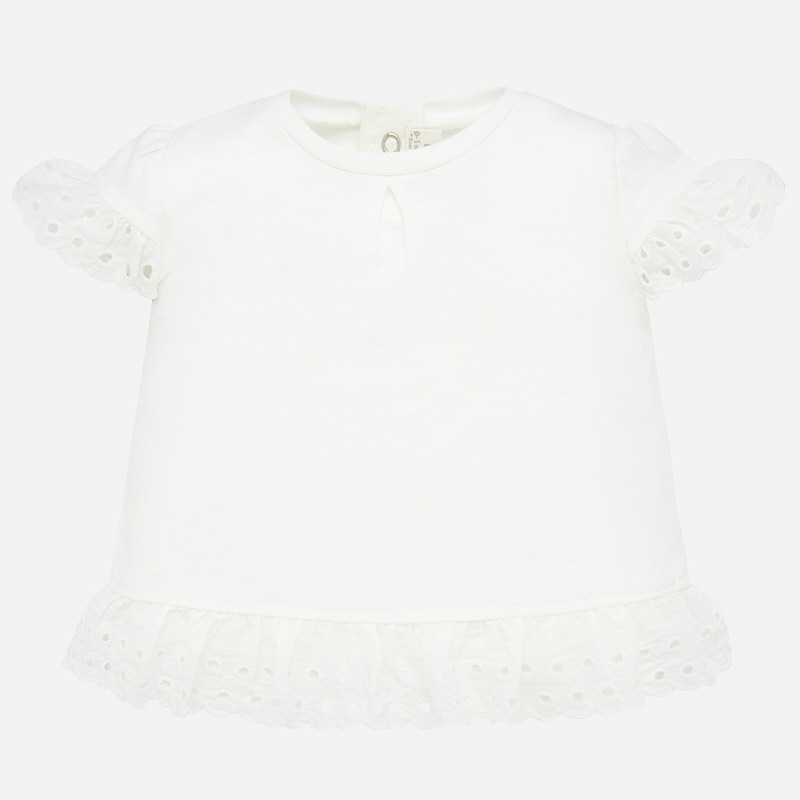 White Baby Girl Ruffled Shirt