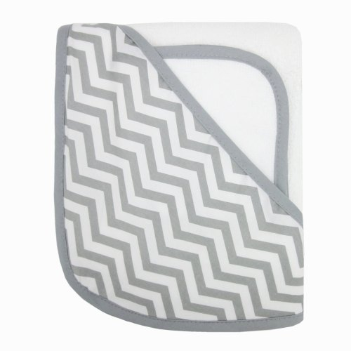 ABC Organic Hooded Towel - Zig Zag