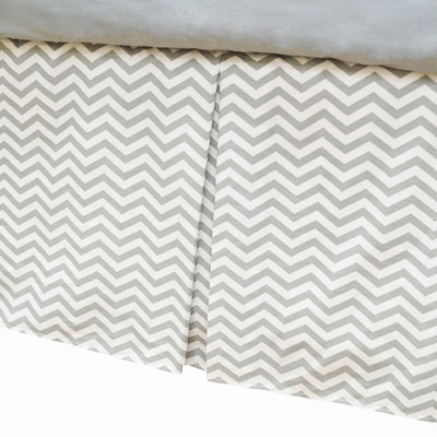 ABC Pleated Crib Skirt - Zig Zag