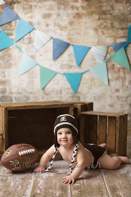 Knit Football Diaper Cover