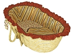 Hot Tamale Moses Basket