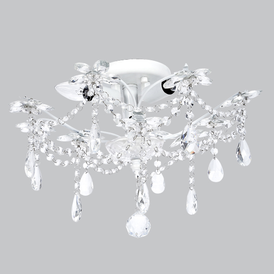 Ceiling Mount Chandelier White