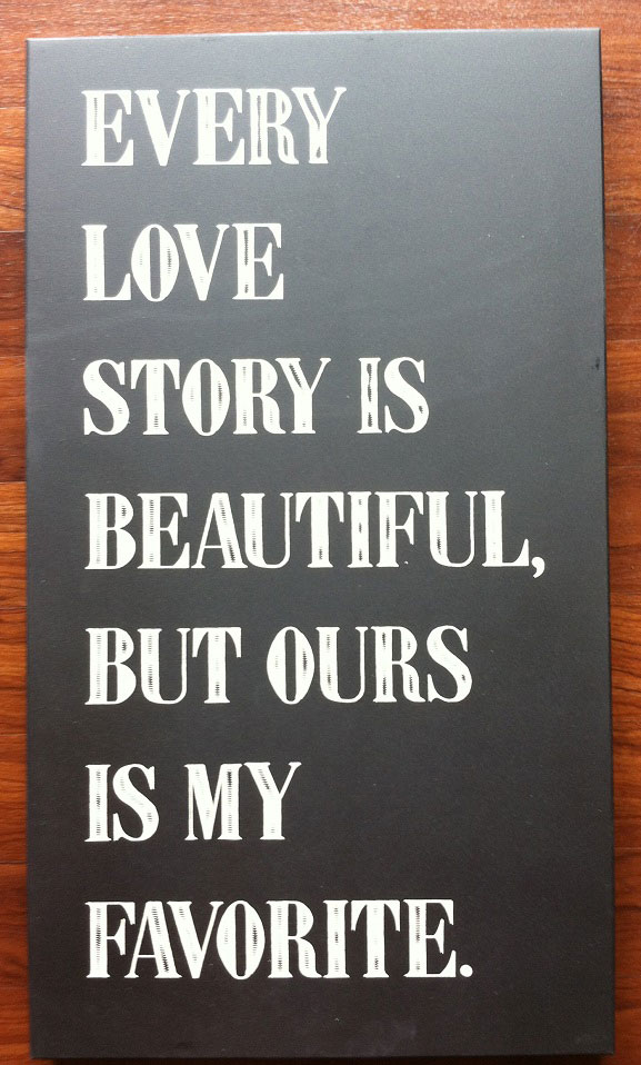 Twelve Timbers Love Story Chalkboard Panel