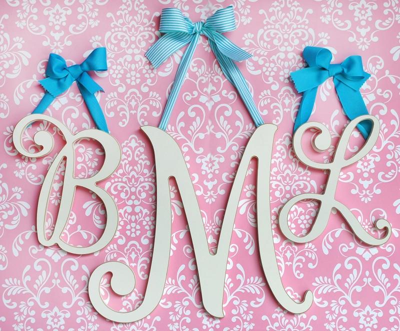 Large Cursive Hanging Letters