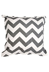Twelve Timbers Dark Grey Chevron Pillow