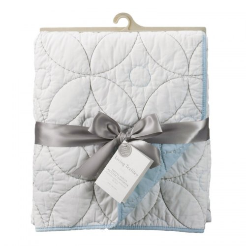Quilted Comforter - White & Blue