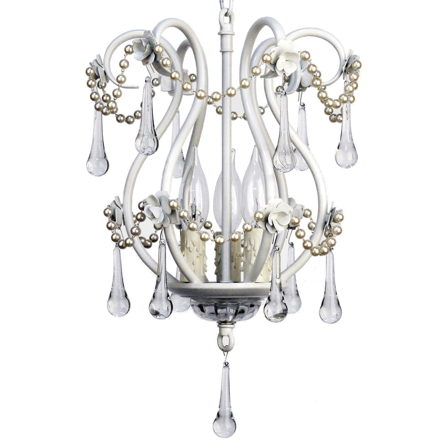 Tiffany Matte White Chandelier