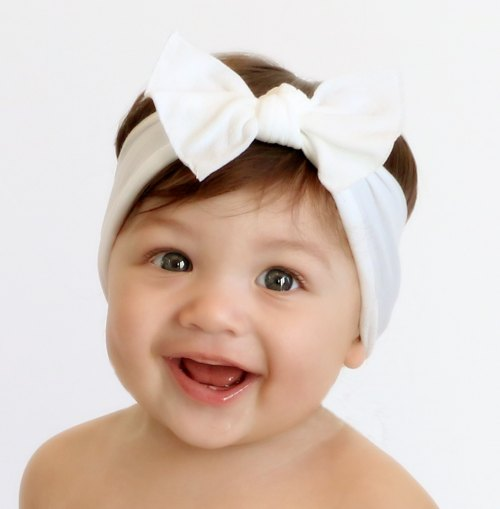 Bow Knot Headband - White