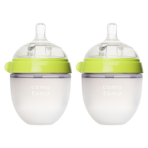 Comotomo 5oz Baby Bottle Double Pack - Green