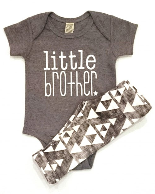 Little Brother Onesie - Grey