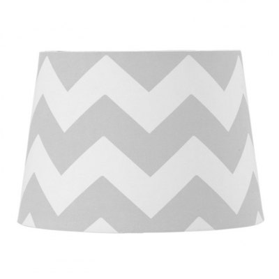 Living Textiles Grey Zig Zag Lamp Shade