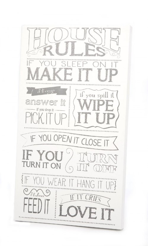 Twelve Timbers House Rules Wall Panel - Customizable!