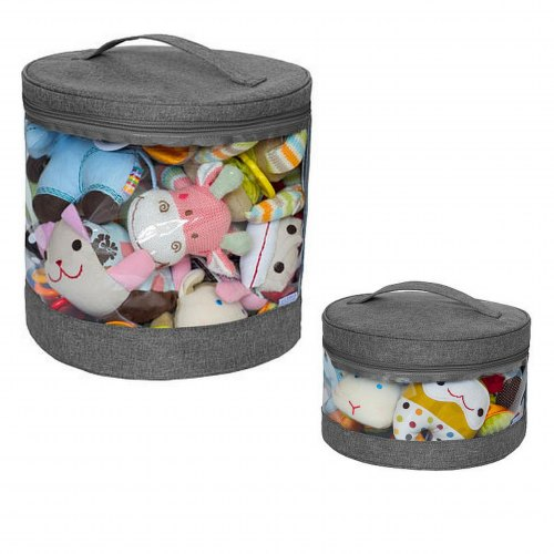 Clear Storage Bin Set - Grey