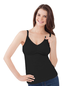 The Essential Nursing Bra Tank - Black