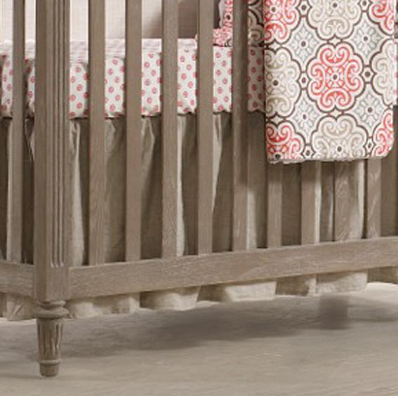 Liz And Roo Ruffled Crib Skirt Flax Linen Create Your