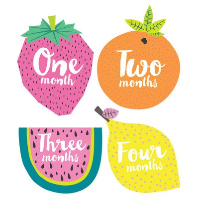 Tutti Futti Monthly Stickers
