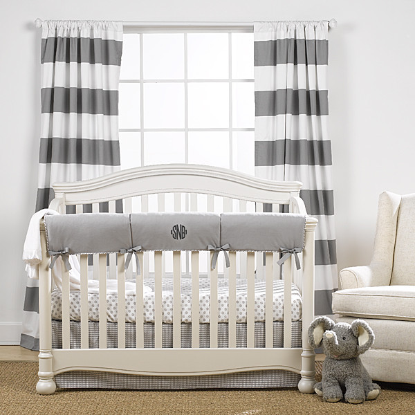 Stripe Curtains - Grey