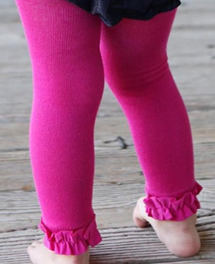 cde3445de1f8 Ruffle Butts Fuchsia Footless Ruffle Tights