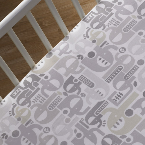 Lolli Living Fitted Crib Sheet - Elephant