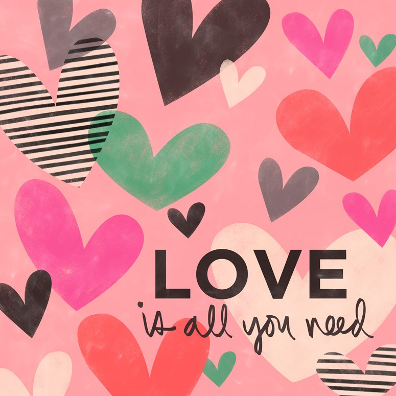 Love is all You Need Hearts Canvas