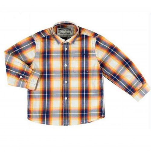 Mayoral Checked Shirt - Orange