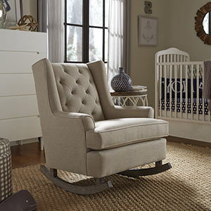 Superbe Paisley Wingback Rocking Chair
