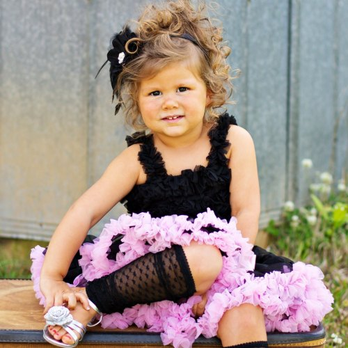 Huggalugs Black & Light Pink Pettiskirt