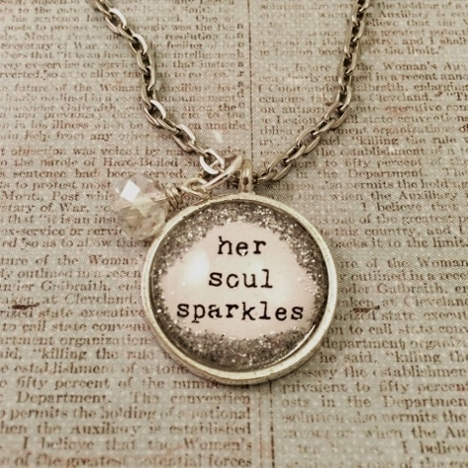 Glitter & Glass Necklace - Silver Type Soul Sparkles