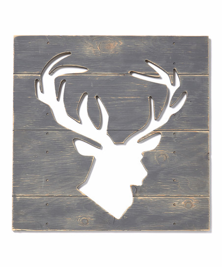 Small Plank Cut Out - Deer Head