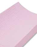 Muslin Changing Pad Cover - Solid Pink