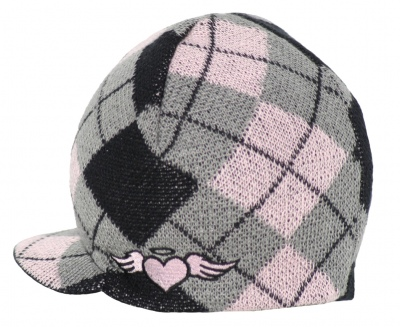 Born to Love Visor Beanie - Pink Argyle