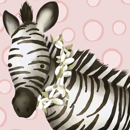 Zoey the Zebra Canvas Reproduction