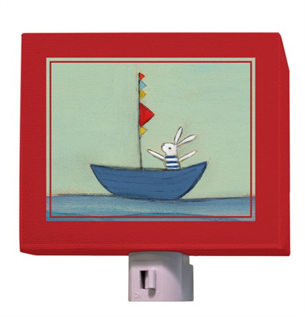 Bunny In A Boat Night Light