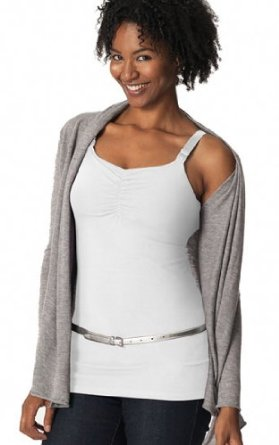 Glamourmm Nursing Bra Full Bust Long Top - White