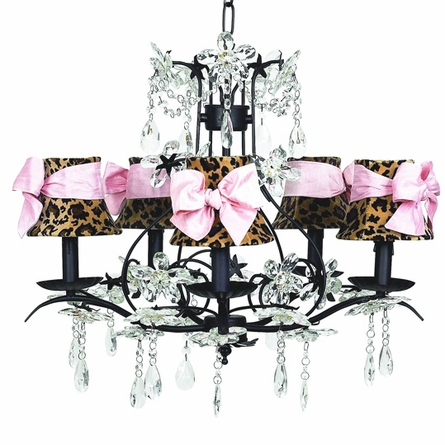 Cinderella Chandelier with Leopard Shades