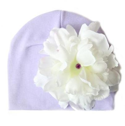 Lavender Hat with White Peony