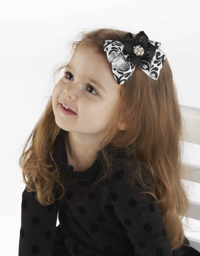 Mud Pie Diva Damask Bow Hair Clip