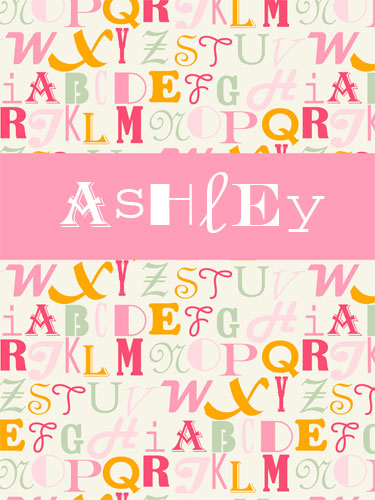 Alphabet Mix Girl Canvas Reproduction