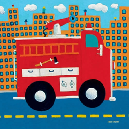 Fire Truck Canvas Reproduction