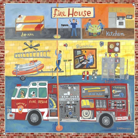 Firehouse Canvas Reproduction
