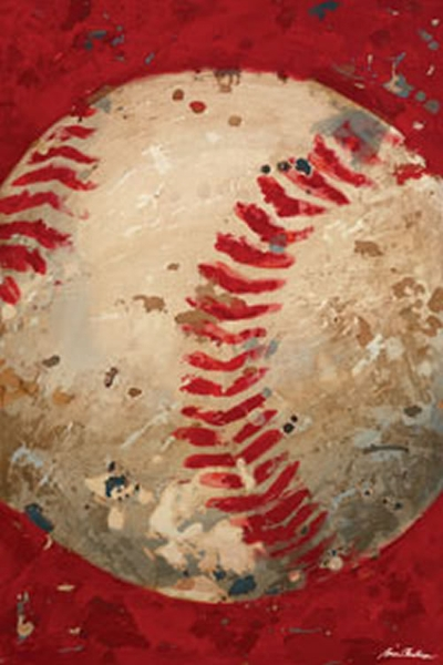 Vintage Baseball Canvas - Red